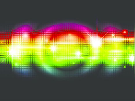 Rainbow multicolored abstract bright background with stars