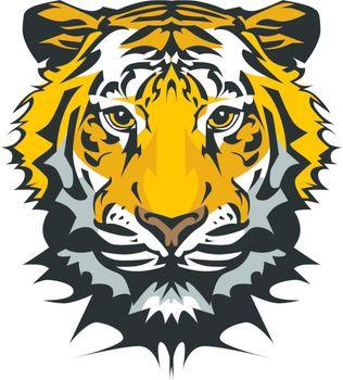 Tiger Head Vector Graphic Mascot