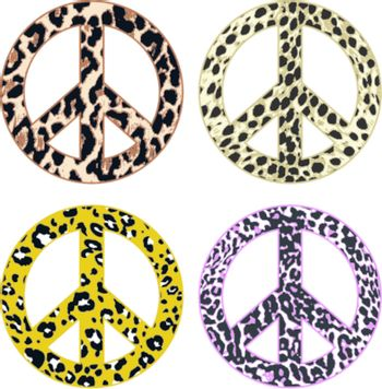 animal print peace design