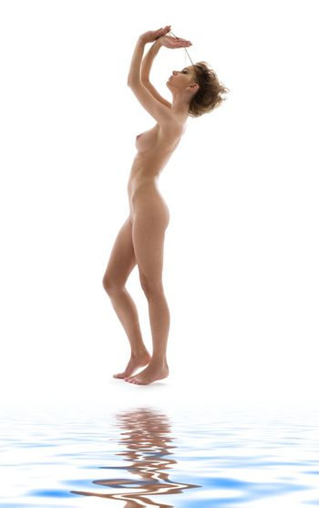 mysterious naked woman