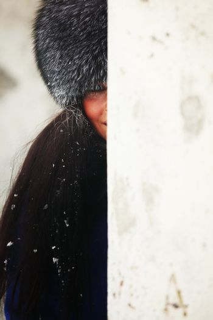 girl fur hat