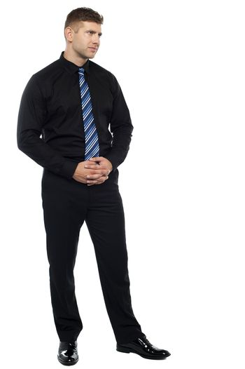 Thoughtful serious businessman