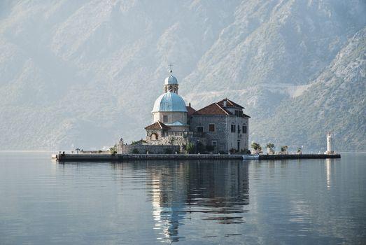 church in perast kotor bay montenegro