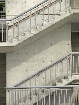 External stair of modern building