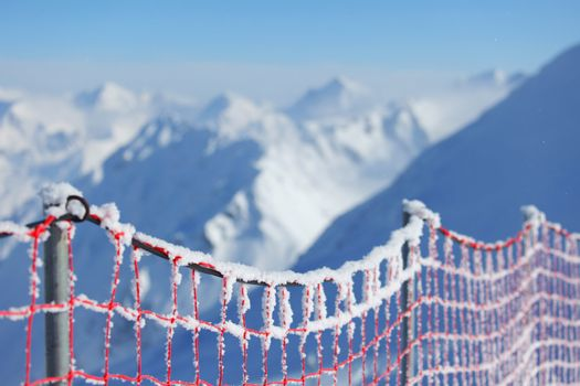 protective net in mountains