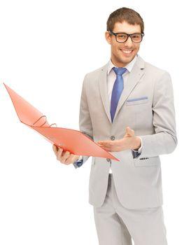 man with folders