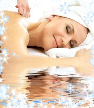 massage pleasure in water
