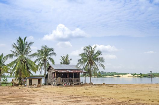 village house in rural cambodia