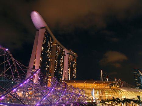 The Marina Bay waterfront