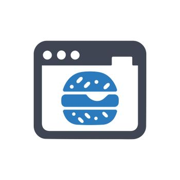 Online food order icon