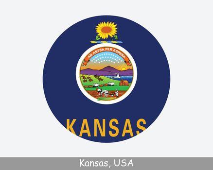 Kansas Round Flag NO LAYER