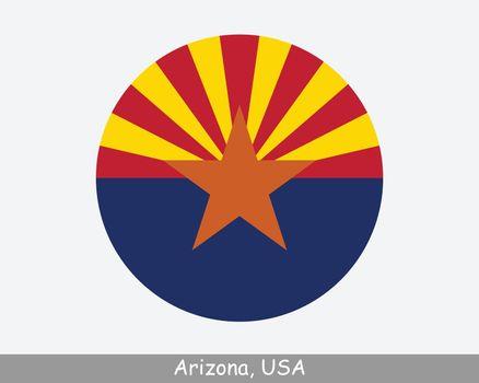 Arizona Round Flag