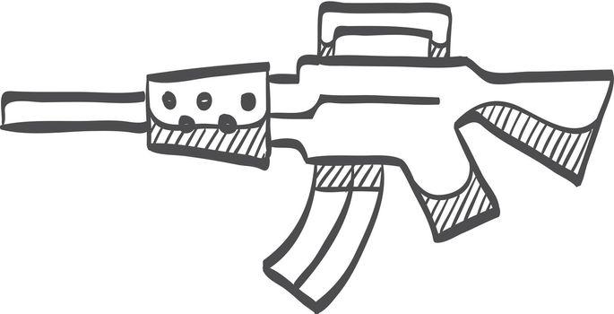 Sketch icon - Vintage Firearm