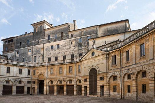 Castello square in Mantua, Italy