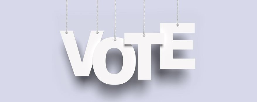 Voting and election concept. Making the right decision