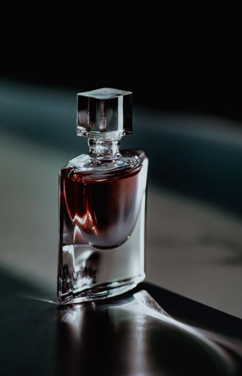 Night scent in glamorous perfume bottle, perfumery as luxury beauty and cosmetic product