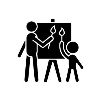 Painting with parent black glyph icon