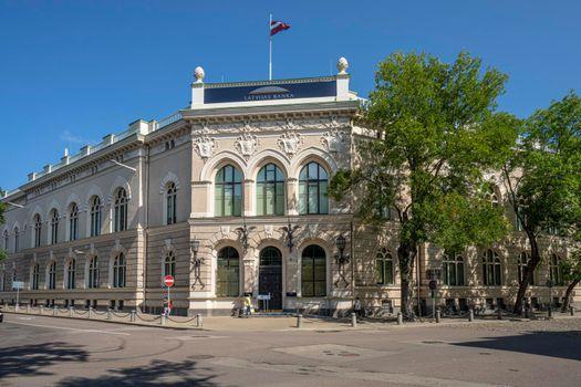 Latvian Central Bank in Riga, Latvia