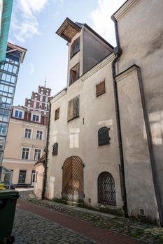 Old street in Riga, Latvia