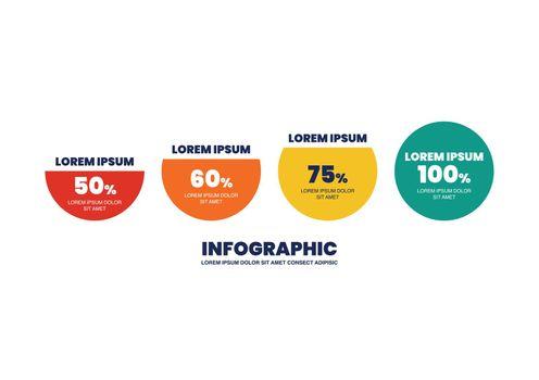 Circle infographic percentage design