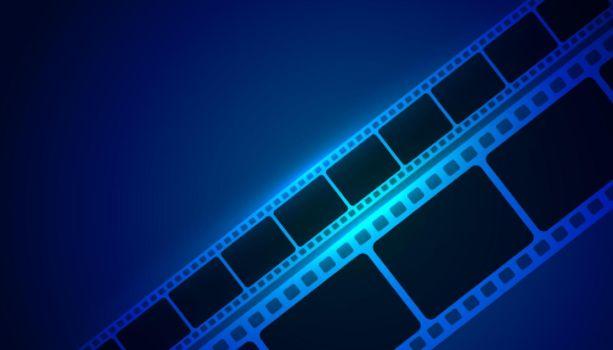 movie film strip blue background