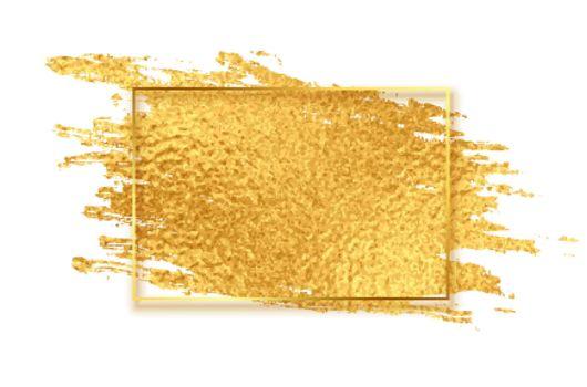 golden shiny paint brush stroke texture background