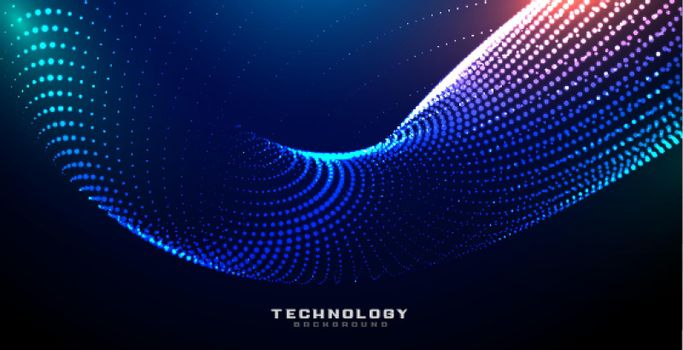 digital technology shiny particles background