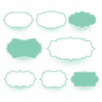 pastel colors wedding label frames set