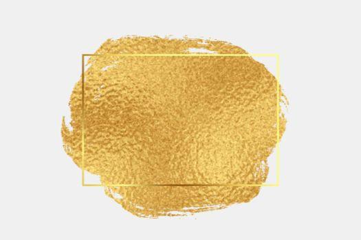 golden foil texture brush stroke background