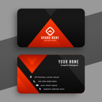 red and black triangle business card