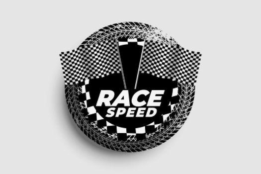speed background with racing flags