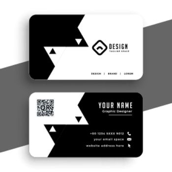 minimal style black and white business card