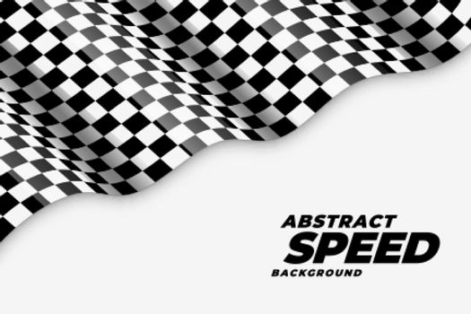 wavy checkered racing flag speed background