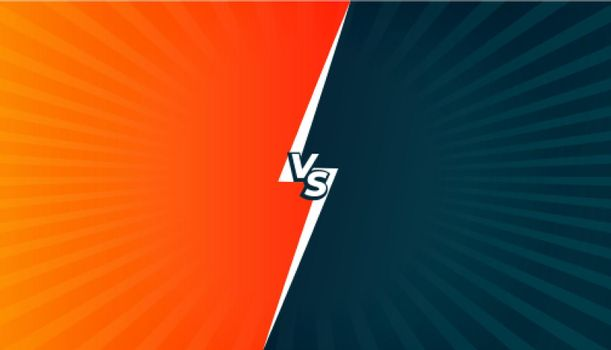 versus vs comparison or battle screen background in comic style
