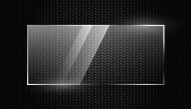 carbon fiber background with shiny glass frame