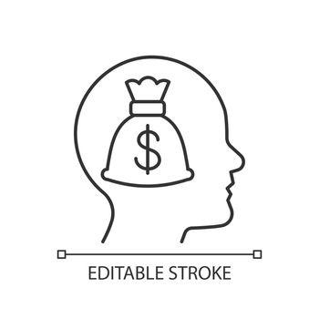 Money reward linear icon