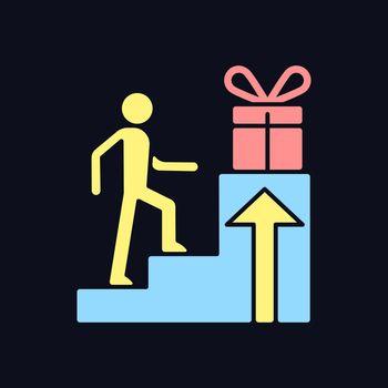 Reward based motivation RGB color icon for dark theme