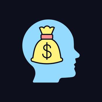 Money reward RGB color icon for dark theme