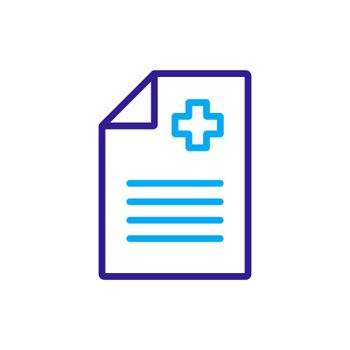 Medical report, clinical record vector icon