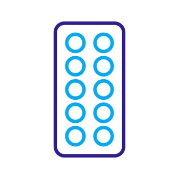 Pills strip vector flat icon