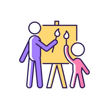 Painting with parent RGB color icon
