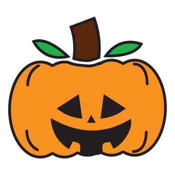 Simple illustration of halloween pumpkin