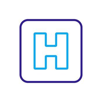 Hospital vector icon. Medicine and healthcare sign