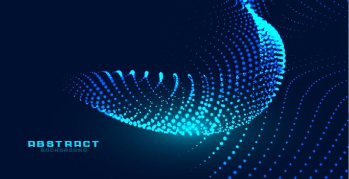 dynamic particles glowing wave effect background