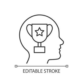 Achievement motivation linear icon