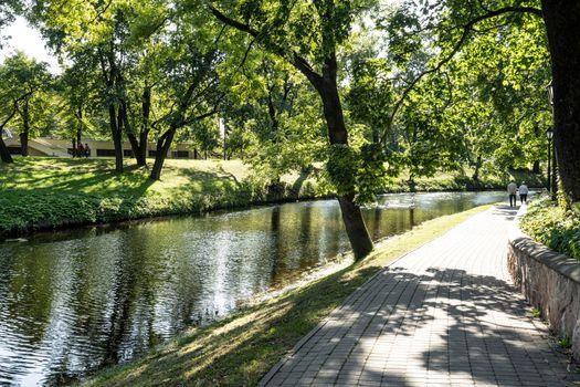 Bastejkalna Park in Riga, Latvia