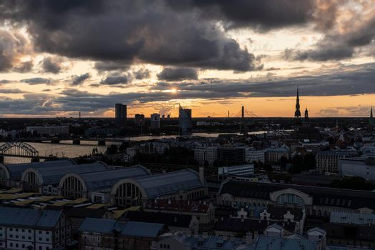 The panorama of Riga, Latvia