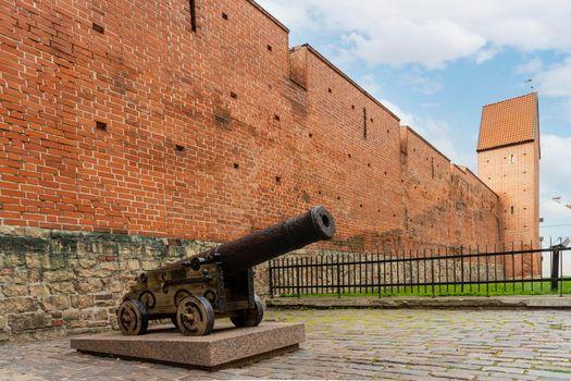 Ancient city walls in Riga, Latvia