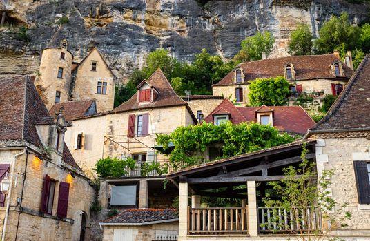 La Roque-Gageac old village in France