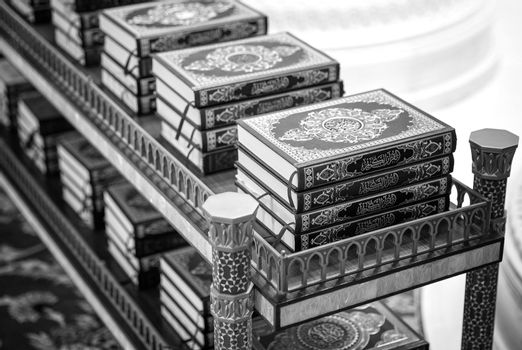 The holy Quran books in a mosque